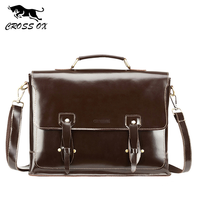 795349fad5ae CROSS OX New Arrival Men Handbag Genuine Leather Briefcase High Class Cow  Leather Shoulder Bag Business Portfolio HB577M