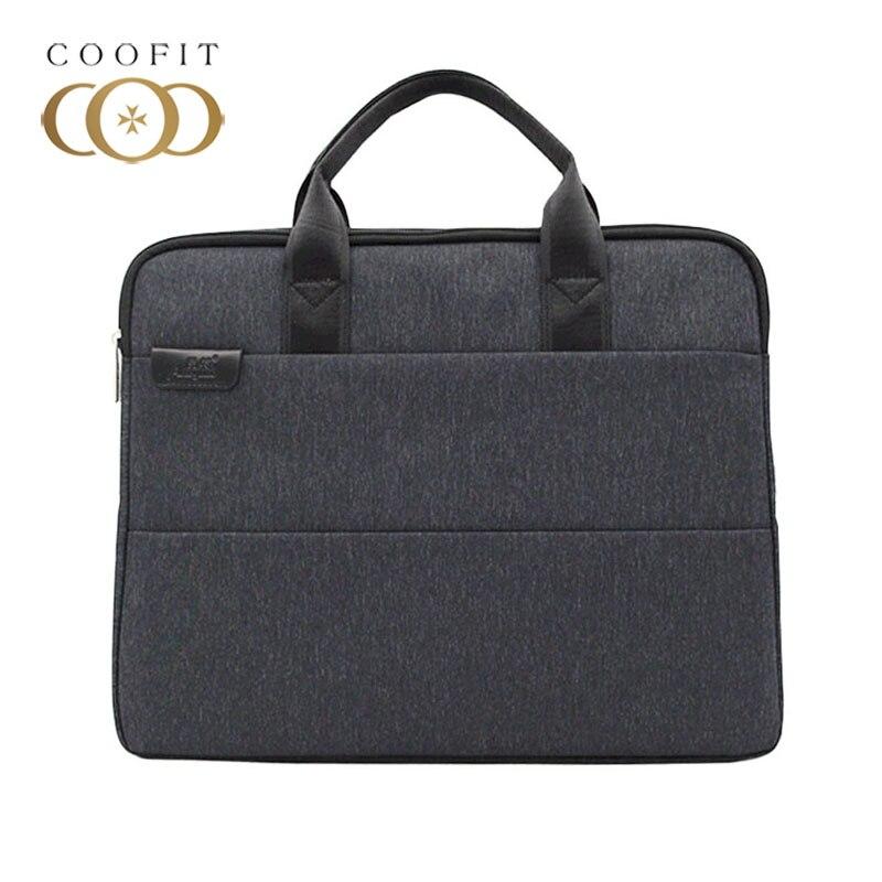 все цены на Coofit Casual Laptop Briefcase For Men Women Fashion Zipper Office Briefcase Business Bag For 15'' Laptop Simple Laptop Handbag