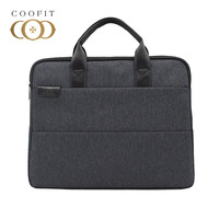 Coofit Casual Laptop Briefcase For Men Women Fashion Zipper Office Briefcase Business Bag For 15 Laptop