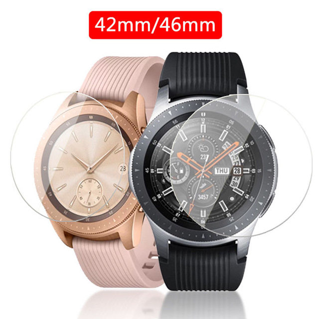 2pcs Tempered Glass Screen Protector for Samsung Galaxy Watch 46mm 42mm Protective Screen Film Anti Explosion Guard Watch Band 2