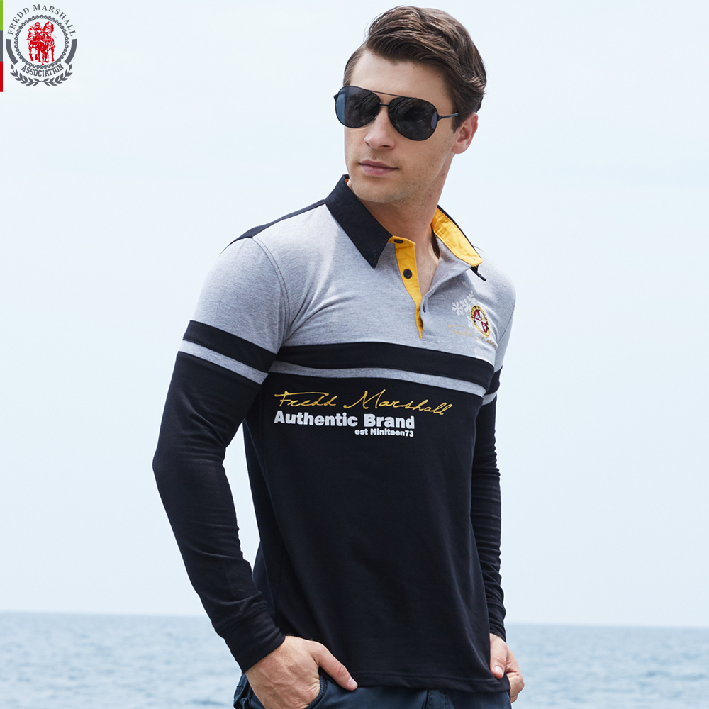 Europe Size New Brand Men 39 S Solid Long Sleeve Polo Shirt