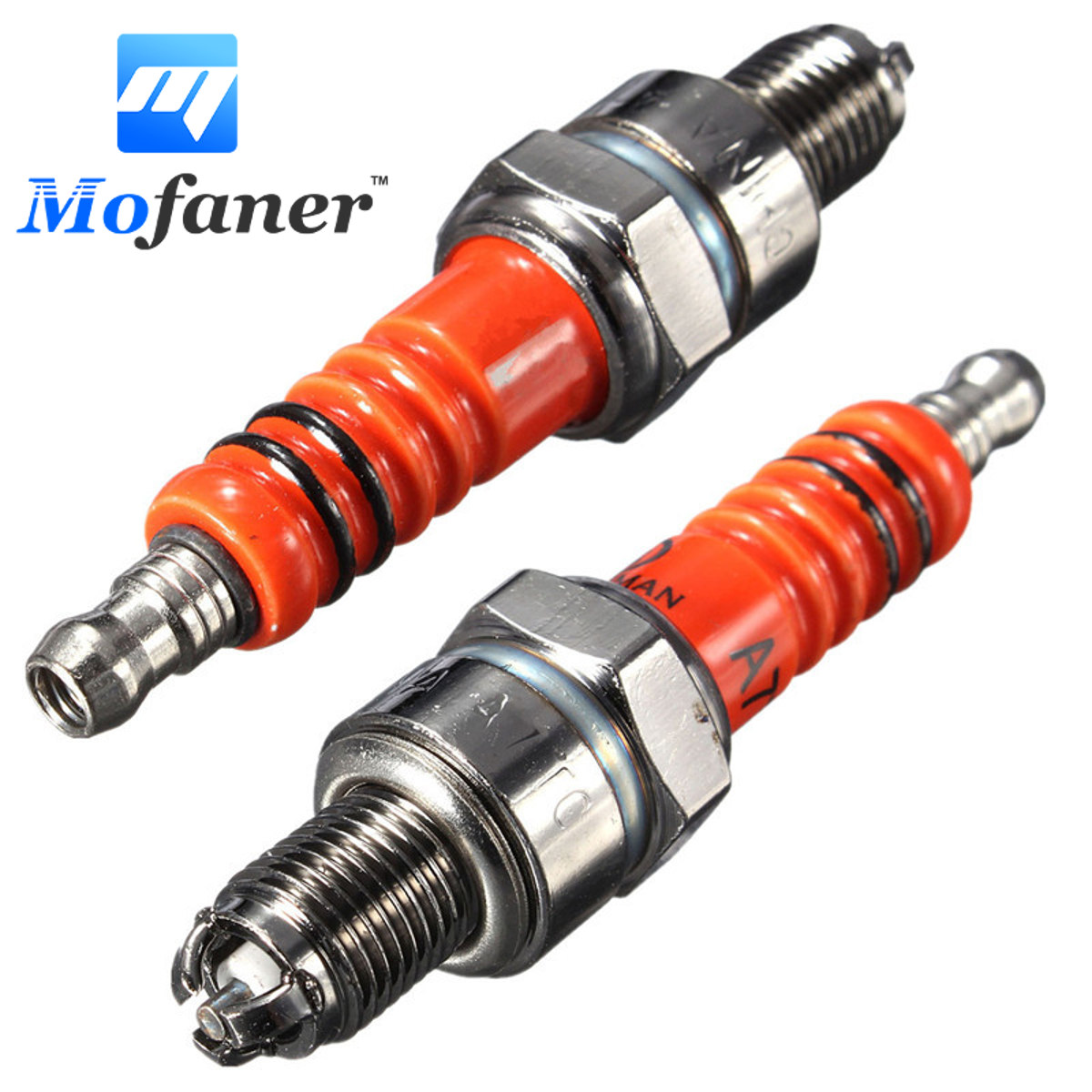 2PCS Scooter Motorcycle Racing 3 Electrode For Spark Plug For Engine GY6 50cc 150cc Rep C7HA C7HSA