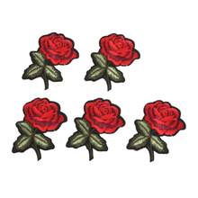 riverdale Flowers Decoration Patch Embroidered Cloth Sew on Fabric Shoes/Shirts/Hats DIY Mending Crafts patches 01(China)