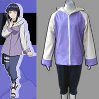 Anime Naruto Shippuuden Hinata Hyuga 2nd Generation Volle Combo Set Cosplay Kostüm für mädchen Sportswear zwei stück (Jacke + hosen)