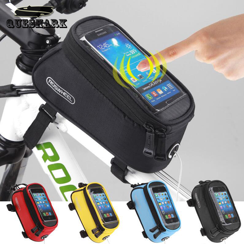 ROSWHEEL Bicycle Bags Bike Top Tube Saddle Bag Bicycle Frame Pannier Mobile Phone Bag Bicycle Accessories 4.2/4.8/5.5inch