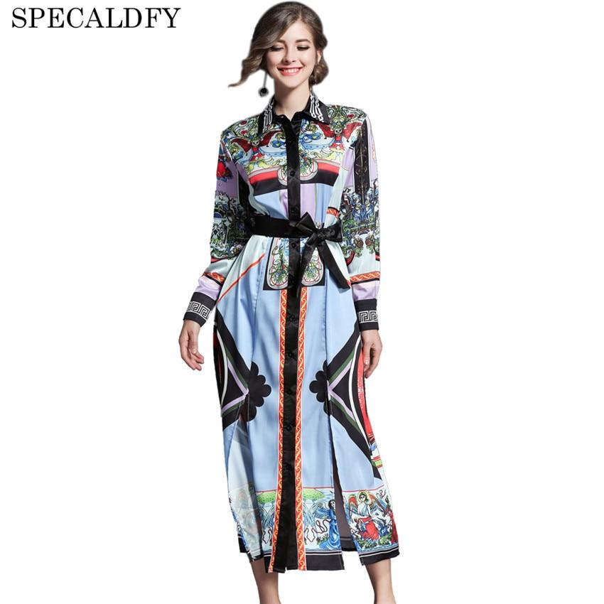Designer Dresses Runway 2018 High Quality Women Long