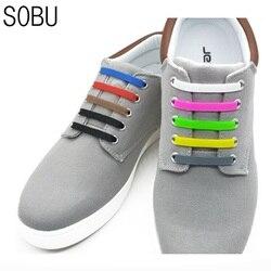 12 шт./партия, новые эластичные силиконовые шнурки без галстука, силиконовые шнурки, креативные эластичные шнурки унисекс для детей K052