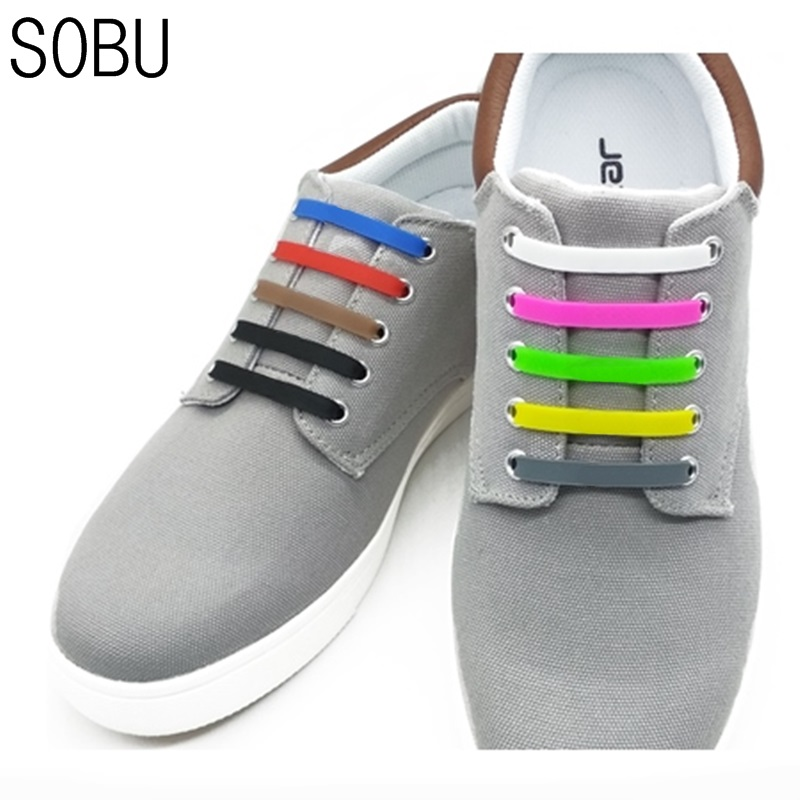 16Pcs/Lot NEW Elastic Silicone Shoe Lace No-Tie Silicone Shoelaces for All Sneaker Creative Shoelaces For Unisex For Kids K052 ...