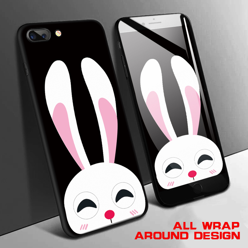 Cute Cartoon Animals Case for Iphone 7 7plus 6 6s 8 8plus Rabbit Cat Chick Bear Hard Plastic Back Cover Phone Cases for Iphone 8 in Fitted Cases from Cellphones Telecommunications