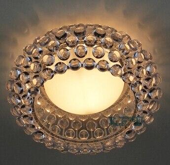 Moderna sala de estar acrílico RS7 bombilla lámparas colgantes comedor Foscarini Caboche Dia35/50/65 CM claro lámpara colgante dorada - 5