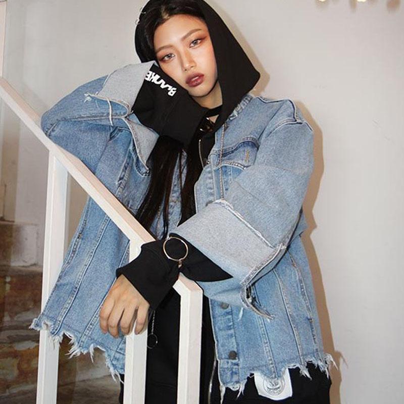 Online kaufen gro handel bergro e jeansjacke aus china for Jeansjacke oversize damen