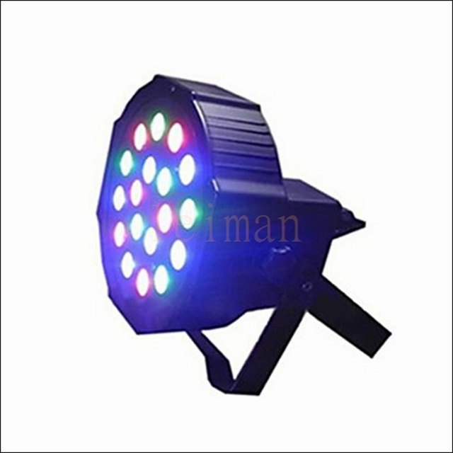 Professional LED Stage Lights 18 Led RGB PAR LED DMX Stage Lighting Effect DMX512 Master-Slave Led Flat for DJ Disco Party KTV