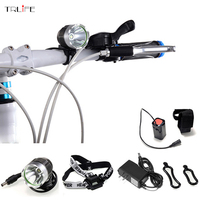 T6 Bicycle Light HeadLight 6000Lumens 3 Mode Waterproof Bike Front Light LED HeadLamp With 8 4v