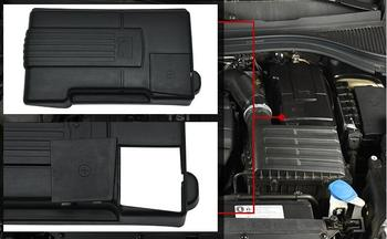 Car Engine Positive Negative Battery Protection Cap Cover Rustproof Shell Frame For Volkswagen Tiguan 2018 Skoda Kodiaq 2017 image