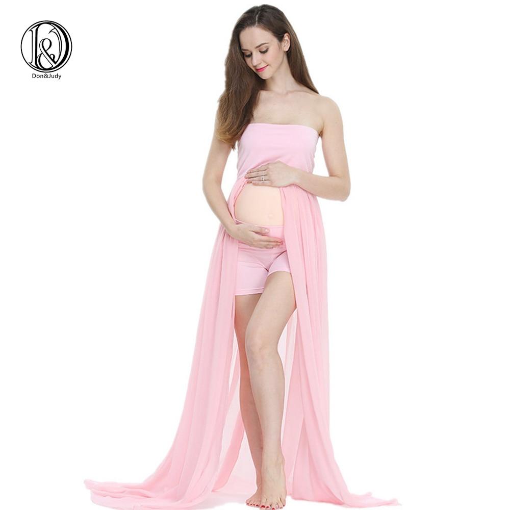 Abito da maternità D & J per servizio fotografico Abito da maternità Maxi Abito da maternità frontale SPLIT FRONT