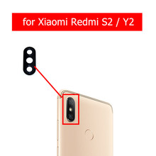 2pcs for Xiaomi Redmi S2/ Redmi Y2 Camera Glass Lens Back Rear Camera Glass Lens with Glue Replacement Repair Spare Parts