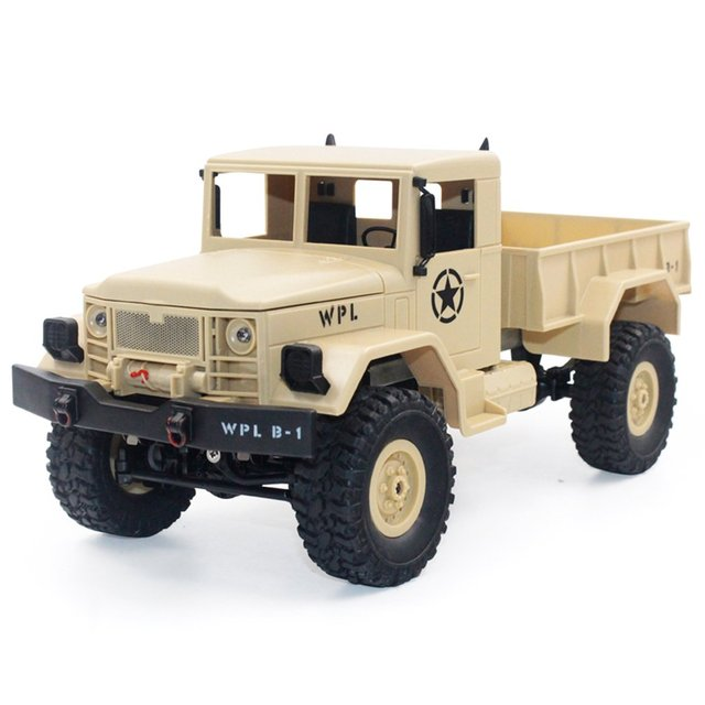 B-14 1/16 2.4GHz RC Crawler Off-road Military Truck Car with Headlight RTR Automatic Vehicle Toys Car for Children Gift