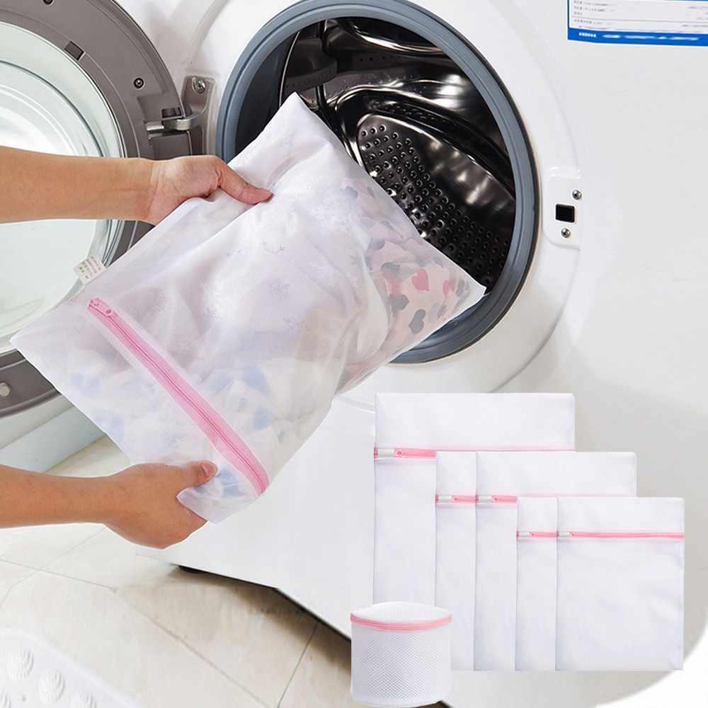 Dobrar Sacos de Lavanderia Saco de Roupa de Malha Net para Peças Delicadas Com Premium Zipper Roupa Interior da Viagem Aid Bra Socks Armazenamento Organizar #35