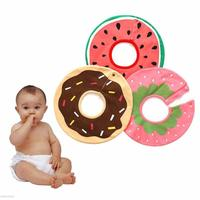 Round Shape Baby Bibs Cartoon Pattern Baby Bibs Bandana Cotton Baby Bibs Burp Cloths Saliva Towel