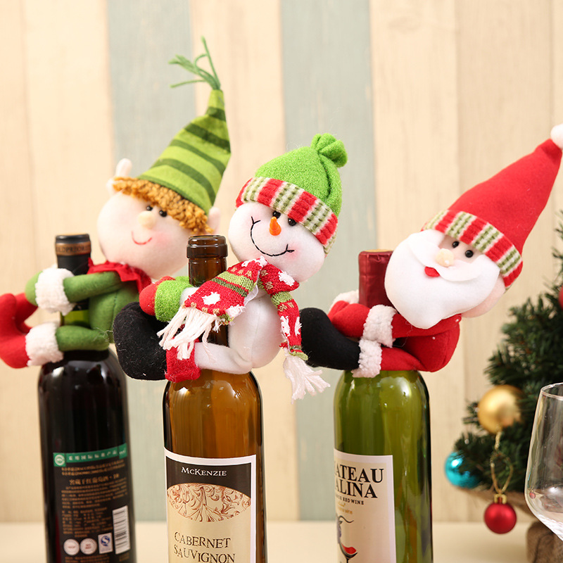 christmas wine bottle decorations - Christmas Wine Bottle Decorations