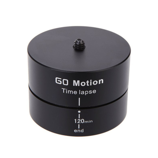 360 Degree 120 Minutes Panning Rotating Tripod Time Lapse Stabilizer Tripod Adapter for Gopro Sports Camera