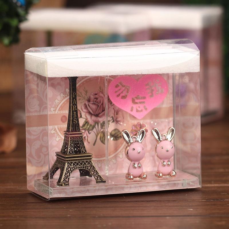 Wedding Gift Ideas For Kids: Creative 2 Rabbit Paris Eiffel Tower Home Decoration Craft