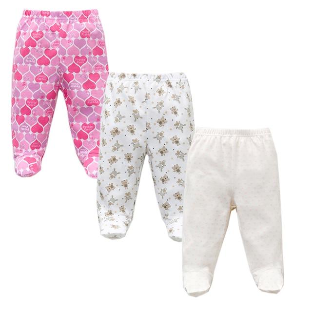 Baby's Cotton Pants with Elastic Waist 3 pcs Set 4