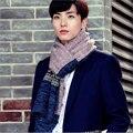 2017 новый зимний горячий стиль мужской шерстяной шарф утолщение осень зима теплая вязание пряжи подбора цвета высокого класса развлекательные центры