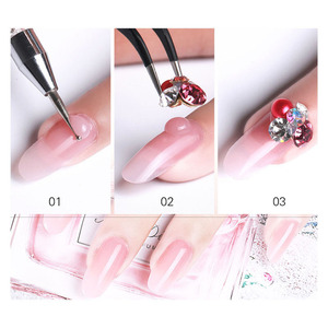 Image 4 - 12Pcs/Set Nail Art Set Poly Gel Finger Extension Clear Pink Jelly Polygel Quick Building DIY Nail Art Tool Decoration Nail Salon