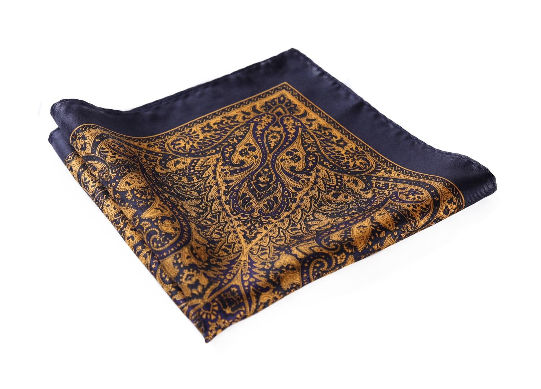 HN29V Handkerchief 100% Natural Silk Satin Mens Hanky Wedding Pocket Square