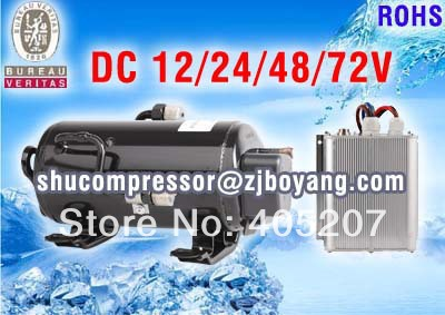 DC 72v variable speed Aircon kit cooling compressor for Electric cars vehicle RV SRV Locomotive cabin air conditioning