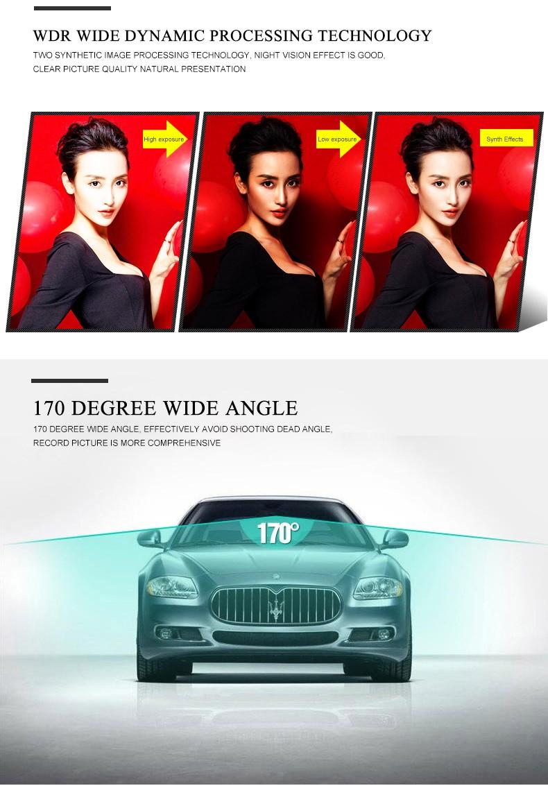 Jansite Car DVR Camera Review Mirror FHD 1080P Video Recorder Night Vision Dash Cam Parking Monitor Auto Registrar Dual Lens DVR 11