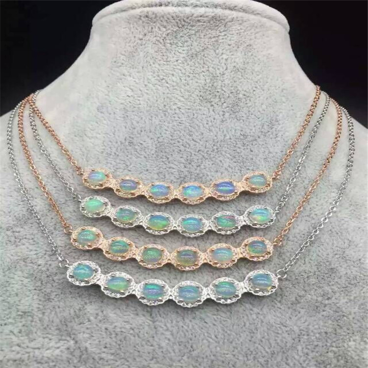 KJJEAXCMY boutique jewelry,Natural opal necklace pendant inlaid female S925 sterling silver jewelry wholesaleKJJEAXCMY boutique jewelry,Natural opal necklace pendant inlaid female S925 sterling silver jewelry wholesale