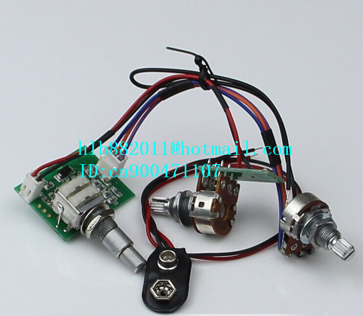 new electric bass guitar active pickup electronic circuit amplifier ...
