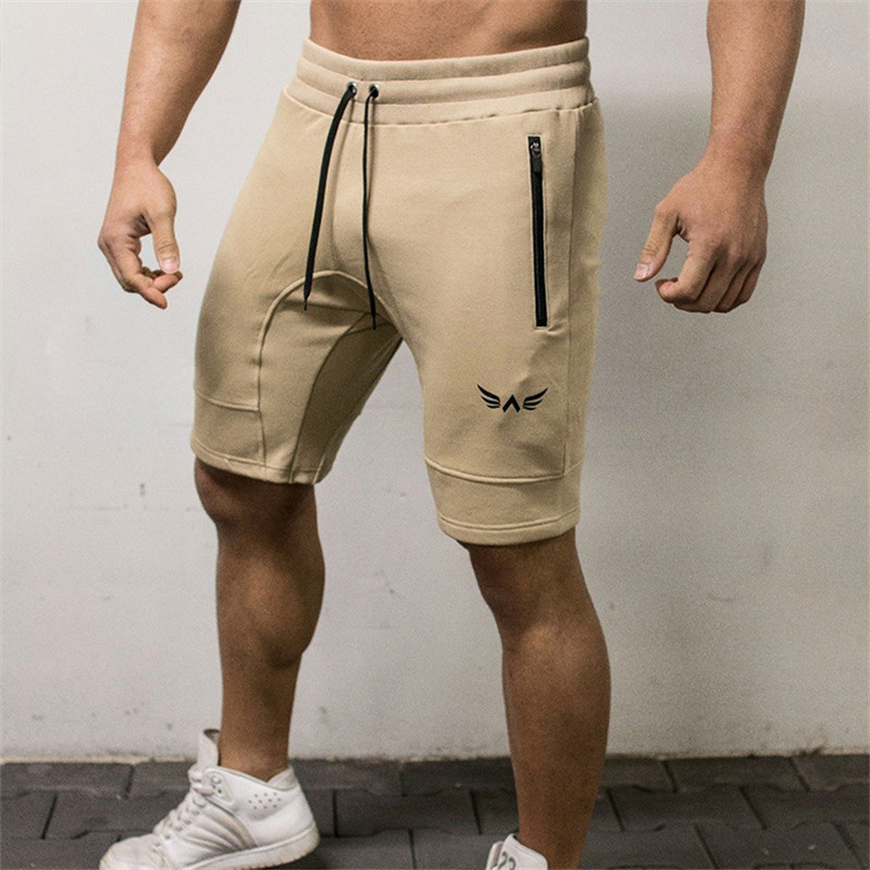 HETUAF Men's Bodybuilding Shorts Fitness Workout 5 Color Bottom Cotton Male Fashion Casual Short Pants Brand Clothing