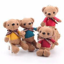 Ted Bear Plush Toy Animal Brown Doll Teddy With Bow Pendant Children Backpack Hanging Jewelry Wedding Gift