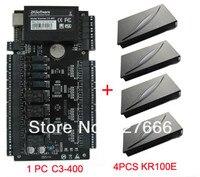 ZKteco Управление доступом Панель Системы tcp/ip 4 Дверные рамы Управление доступом доска и 4 шт. KR100E RFID Card Reader с бесплатной Программное обеспечени
