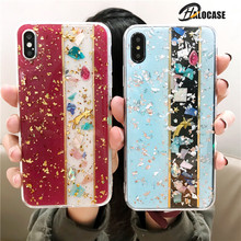New Luxury Gold Foil Bling Marble Phone Case For iPhone X XS Max Soft TPU Cover 7 8 Plus 6 6s XR Glitter Coque