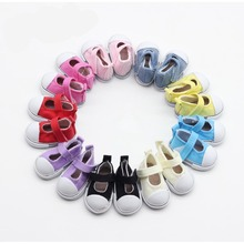 3 Pairs 5cm canvas Doll Toy Shoes casual,1/4 Mini Doll shoes BJD Accessories with Assorted Colors Mix