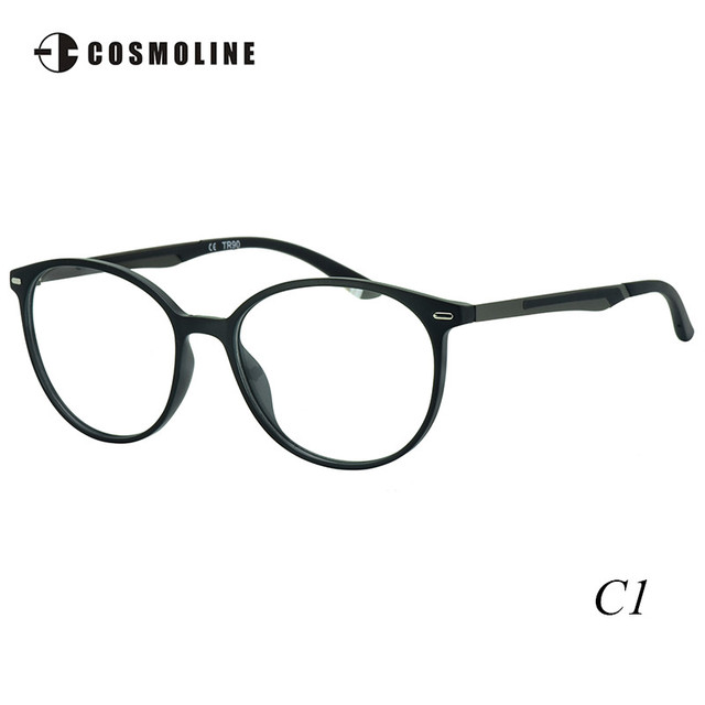 6ca1c94ae9 Cosmoline Women Accessories Glasses Frame Women s TR90 Optical Frame Round  Myopia Eyewear Frame with Demo Lens