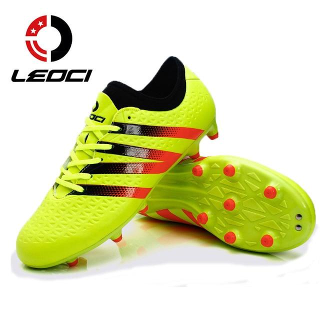 d509b14b25 Homens De Treinamento de Futebol Sapatos FG LEOCI AG Futebol Chuteiras  Sapatilhas Meninos Adolescentes Adultos Botas