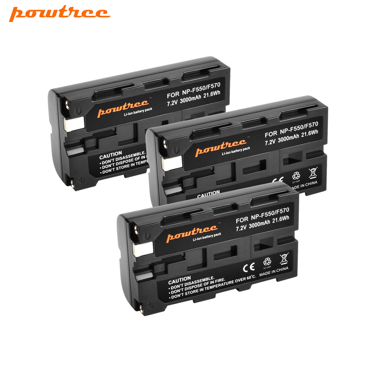 Powtree For Sony NP-F550 NP F550 NPF550 Camera <font><b>Battery</b></font> NP-F330 NP-F530 NP-F570 NP-F730 NP-<font><b>F750</b></font> Hi-8 GV-D200 D800 L10 image