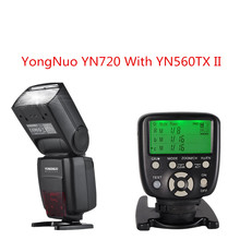 2018 YONGNUO YN720 Lithium Manual Speedlight Flash with Yongnuo YN560TX II Flash Wireless Trigger for Canon Nikon Pentax цены онлайн