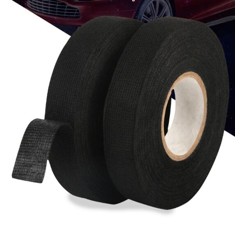 19 мм x 15 м Автомобильная термостойкая лента для жгута тканевая защита для Suzuki Mazda Opel Lada Peugeot Chevrolet Audi Bmw
