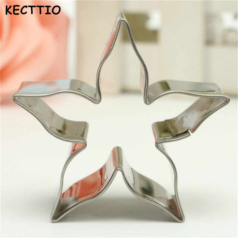 Stainless Steel Starry Flower Cookie Cutter Biscuit Cake Kitchen Baking Mould For Fruit Vegetable Decor Mold 1PC