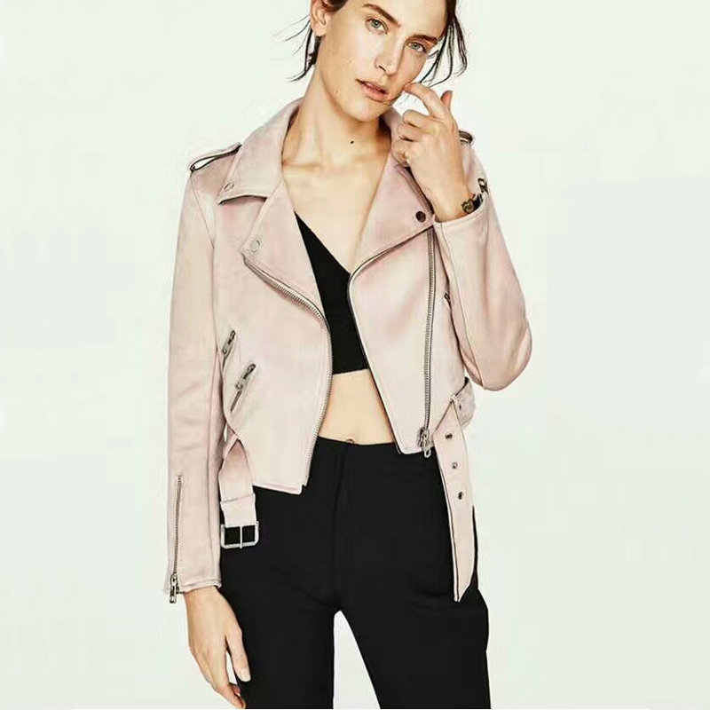 2018 New Fashion Women Motorcycle Faux Leather Jackets Lady Suede Matte  Biker Cool PU Coat High Quality Autumn Winter Outerwear-in Leather   Suede  from ... 66524f2dc752