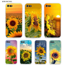 Transparent Soft Silicone Phone Case The most beautiful sunflower for iPhone XS X XR Max 8 7 6 6S Plus 5 5S SE