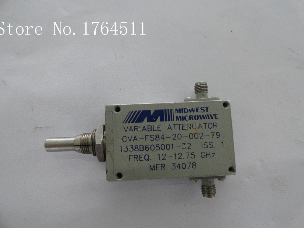 [BELLA] MIDWEST CVA-FS84-20-002-79 12-12.75G Hand Adjustable Continuation Variable Attenuator 20dB