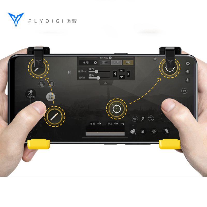 Flydigi Phone Super Game Controller for PUBG Mobile Gamepad Trigger Shooter Joystick for iPhone Android Compatible with WASPFlydigi Phone Super Game Controller for PUBG Mobile Gamepad Trigger Shooter Joystick for iPhone Android Compatible with WASP