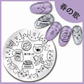 Newly 5.5cm Nail Art Stamp Template Cat Dog Food Design Image Plate Harunouta-20